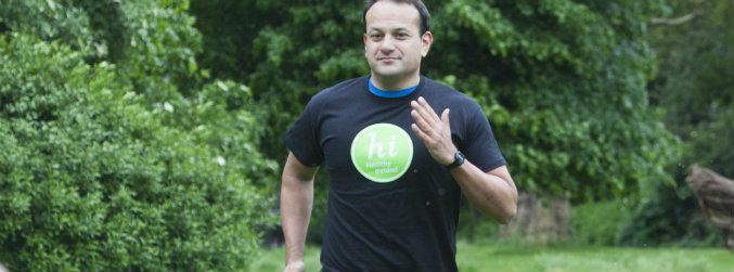 Taoiseach Leo Varadkar promoting the Healthy Ireland initiative