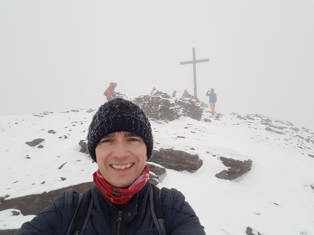 The summit of Carrauntoohil county Kerry