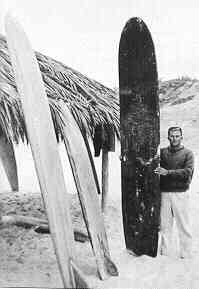 Bob Simmons standing in front of the WindandSea Shack.