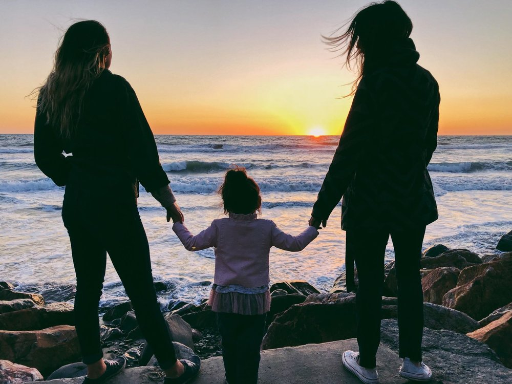 My girls and I overlooking the Ocean near the Oceanside Harbor, CA