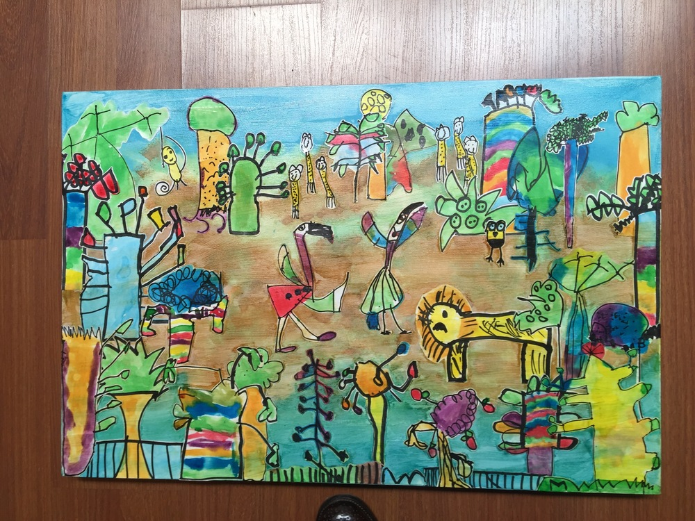 The Eucalypt Group canvas that was up for auction on the day.