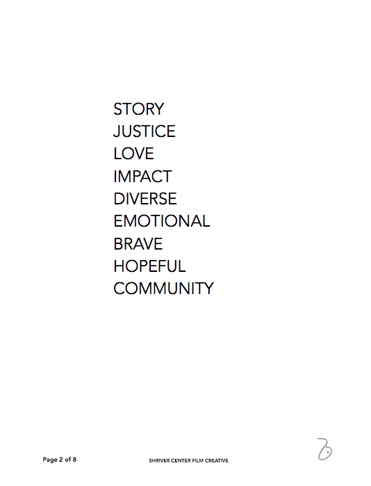 Creative Document for Justice = Love