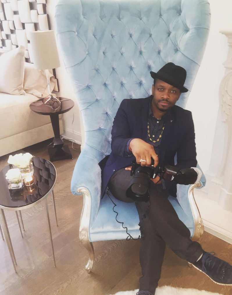 Photographer Beking Joassaint on location for Modern Luxury.