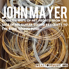 John Mayer guitar string bracelet whosestringsareyouwearing wearyourmusic whose strings are you wearing wear your music guitar music gifts rock star music bracelet
