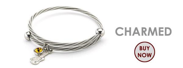 Charmed charms guitar string bracelet whosestringsareyouwearing wearyourmusic whose strings are you wearing wear your music guitar music gifts rock star music bracelet