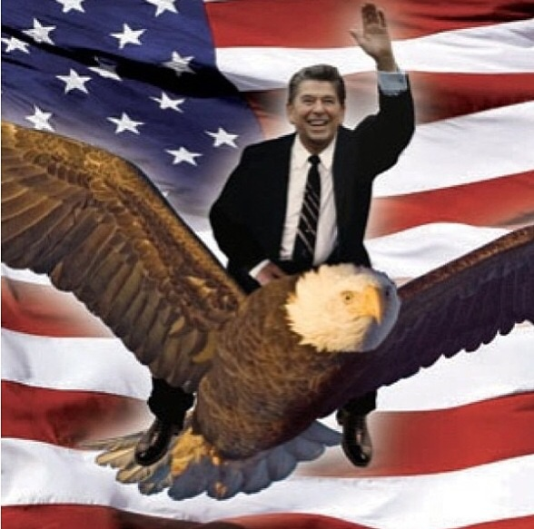 Image by Total Frat {http://totalfratmove.com/ronald-reagan-riding-a-bald-eagle-tfm-3}