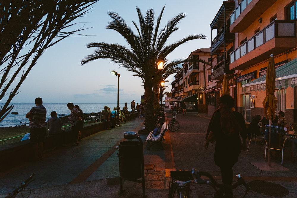 Evening at the beach promenade