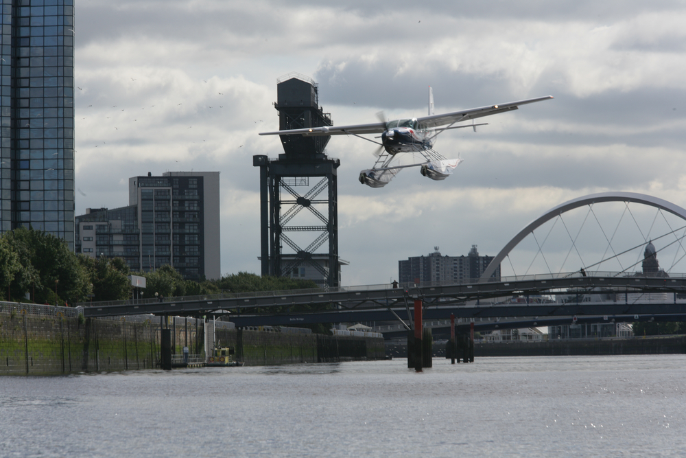 Landing on the River Clyde, Glasgow City Centre