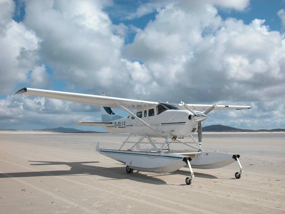 Landing on Sollas Beach, Outer Hebrides