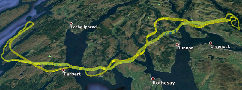 The Explorer Sightseeing Flight Route Map - available to you post flight