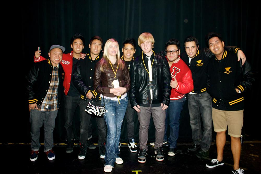 From left to right - Timothy Delaghetto, Ryan Higa, Victor Kim, Lexi (James' friend), D-trix, James Rath, Andrew Garcia, Chester See, Andrew Aquino.