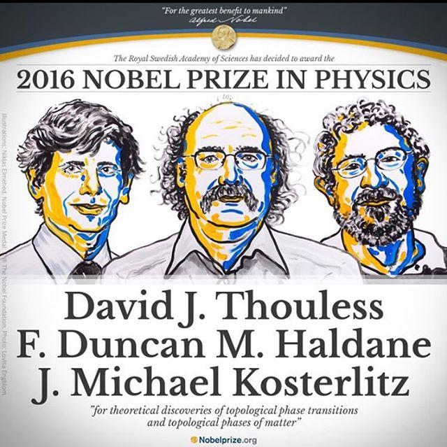 حصد عضو هيئة التدريس بجامعة واشنطن بسياتل تخصص الفيزياء على جائزة نوبل للعام ٢٠١٦  مبروك لبرفوسور ديفيد نولس، مبروك لجامعة واشنطن، مبروك لطلاب الجامعة ول اهل سياتل، وعقبال طلابنا السعوديين والخليجيين والعرب  #سياتل #نوبل #جامعة_واشنطن #seattle  #seattlegcc  https://www.nobelprize.org/nobel_prizes/physics/laureates/2016/press.html
