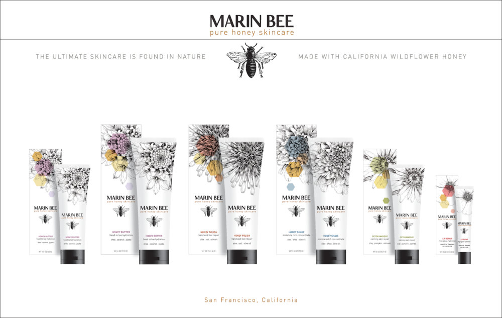 Marin Bee Pure Honey Skincare Line