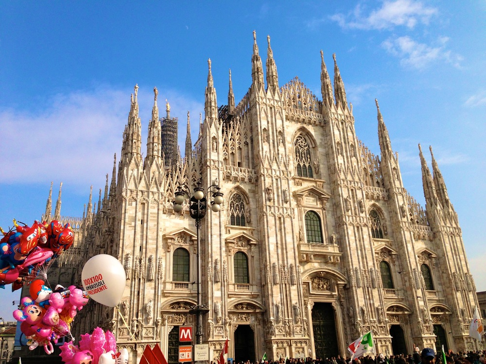 Milan's main attraction is its church, Il Duomo.