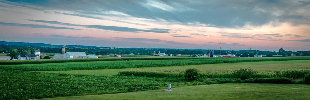 A typical view of the rolling fields found in Lancaster, PA.