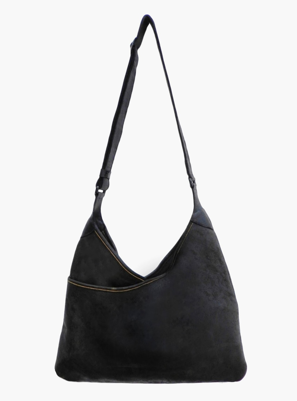 Lily and Lola 'Lisa' Burnt Black Leather