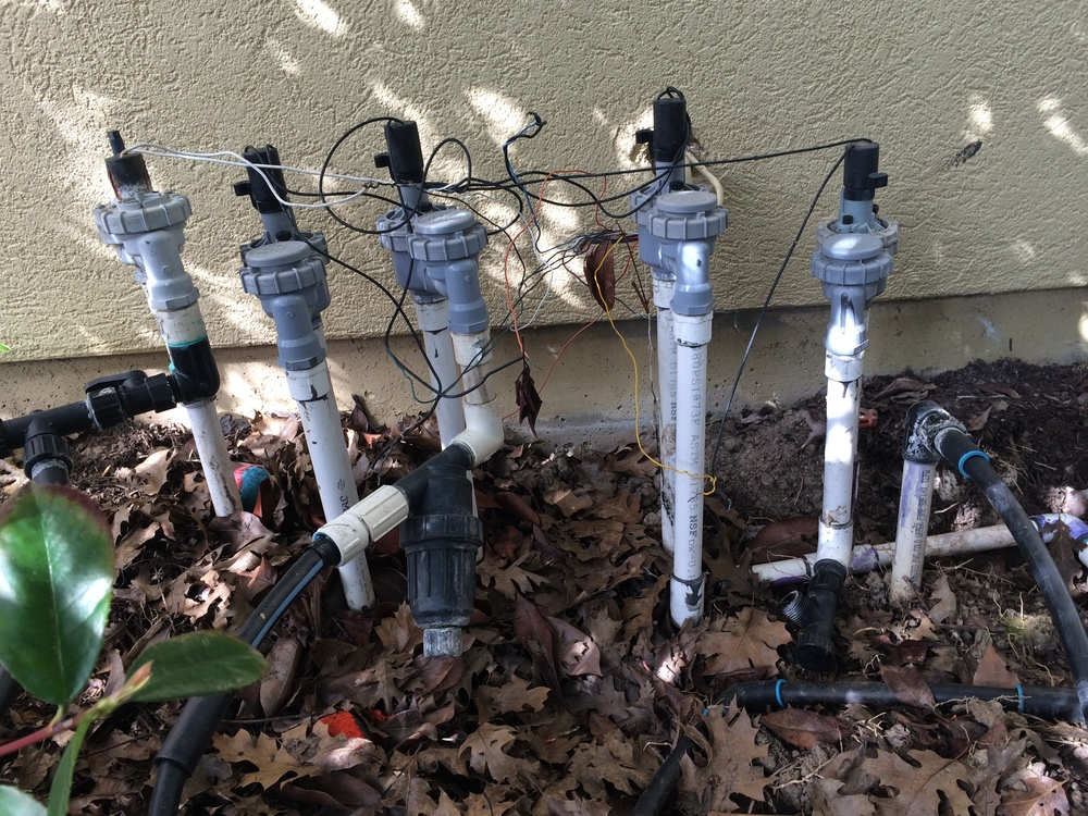 Is this an irrigation manifold or a science experiment?