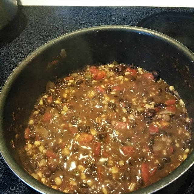 Vegetarian chili and thoughts on shells.  Another community dinner here at the Road! Meditation tonight is on James 1:2-4.  #persevere #chili #beachvibes #intentionaldinner