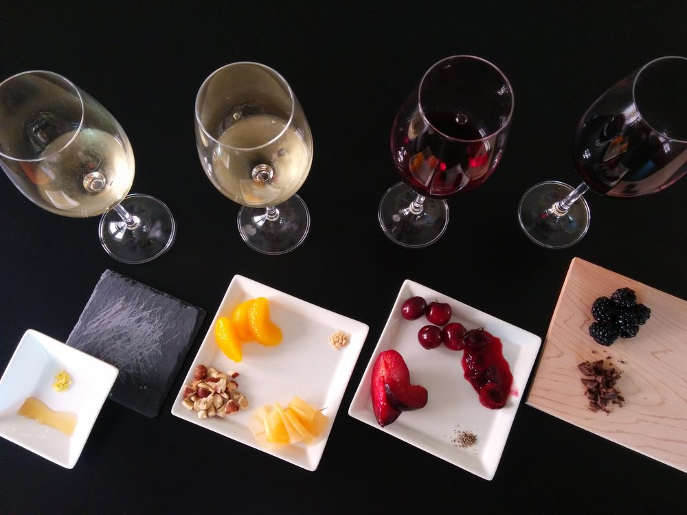 Wines with several primary flavors visualized.