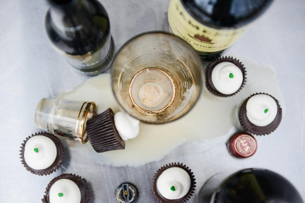 IRISH CAR BOMB | GUINNESS® CHOCOLATE CAKE + JAMESON® GANACHE + BAILEY'S® BUTTERCREAM