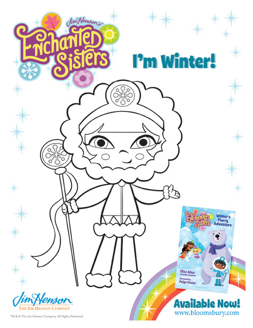 Coloring Pages — Enchanted Sisters