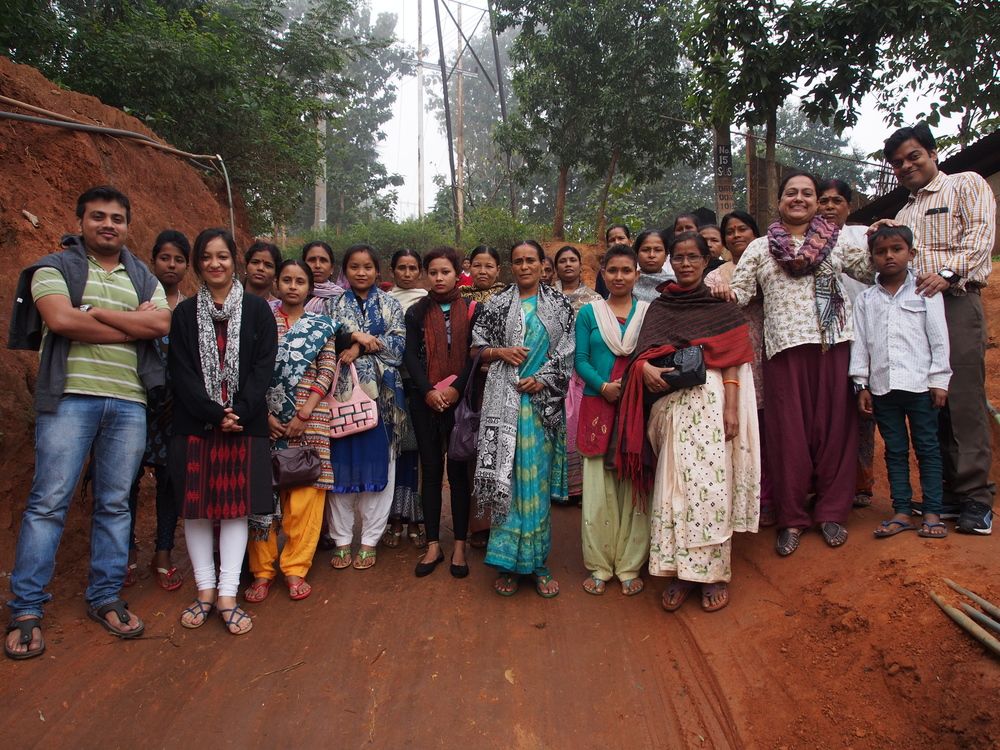 Maitri and Upaya managers meet with sahayika community group in Guwahati outskirts
