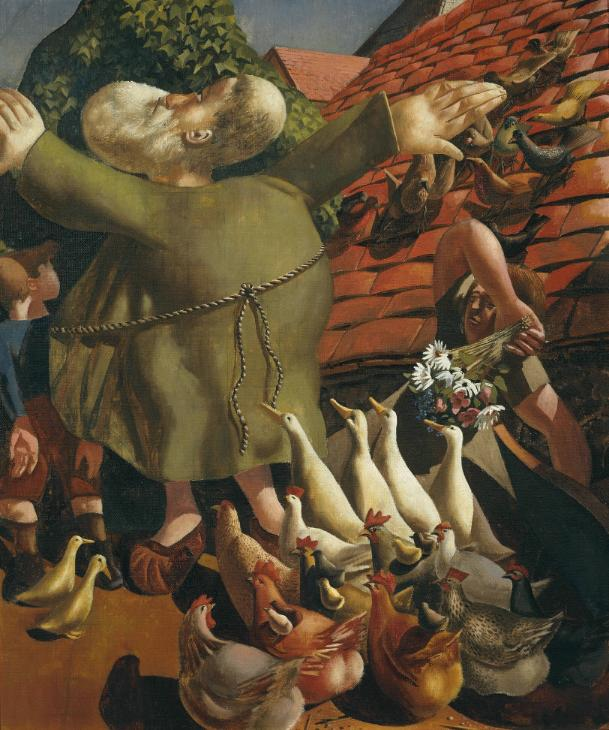 Sir Stanley Spencer, st. Francis and the Birds 1935