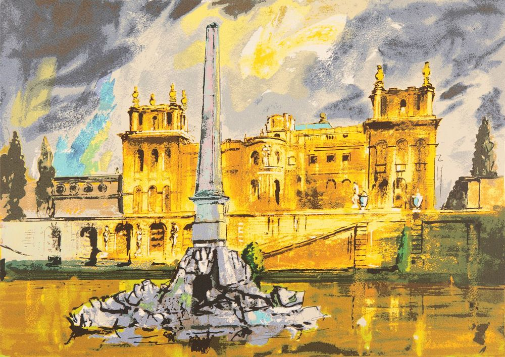 John Piper, Duchene Fountain Blenheim