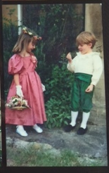 Me & Laura in Bath aged 4