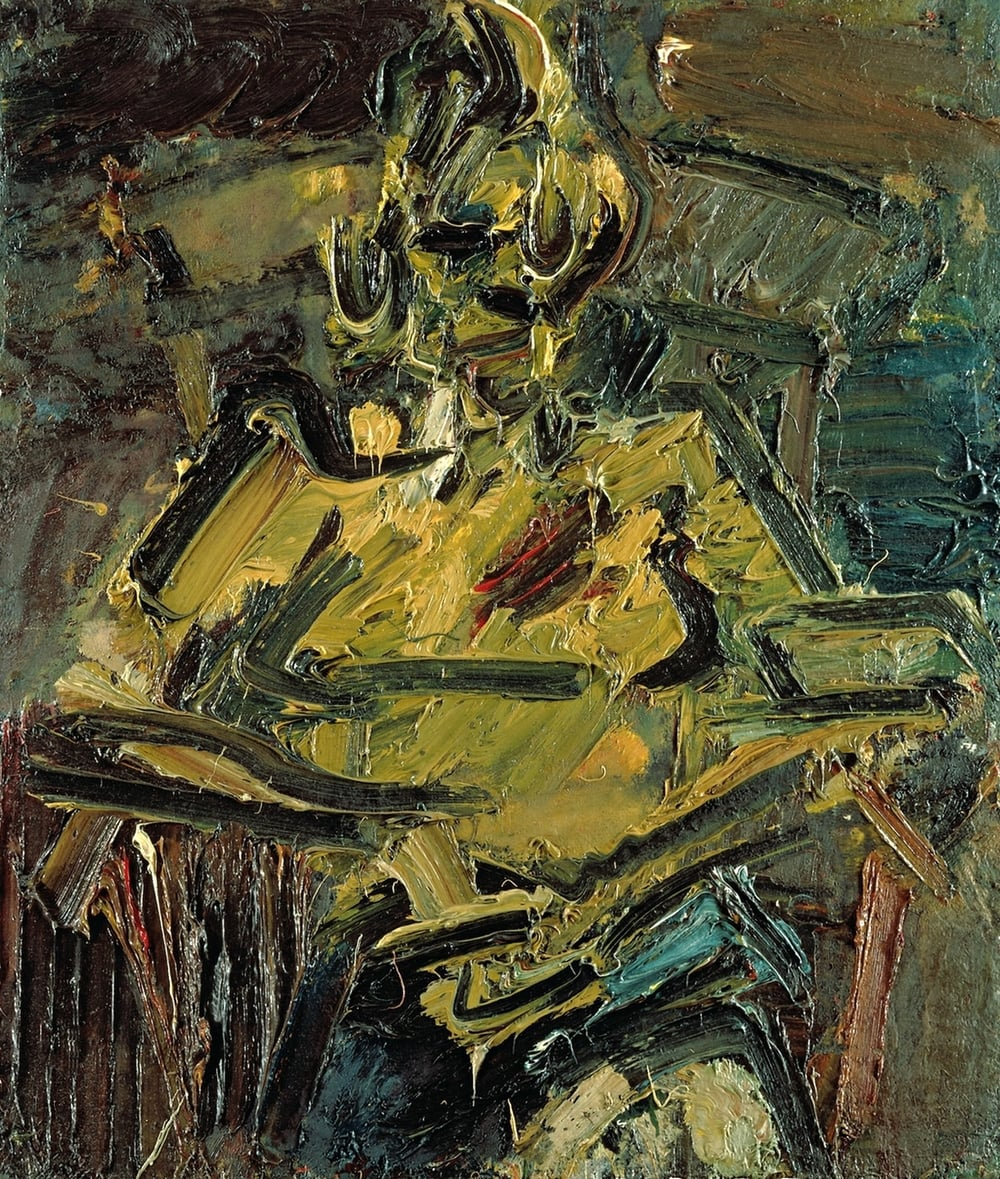 Portrait Of Catherine Lampert, Auerbach
