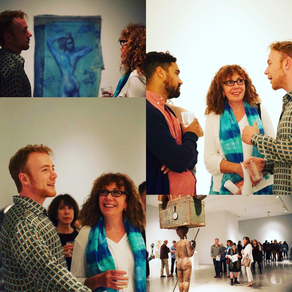 At the latest exhibition of Alison Saar's recent work at LA Louver discussing with artists Johan Andersson and Stephanie Burns