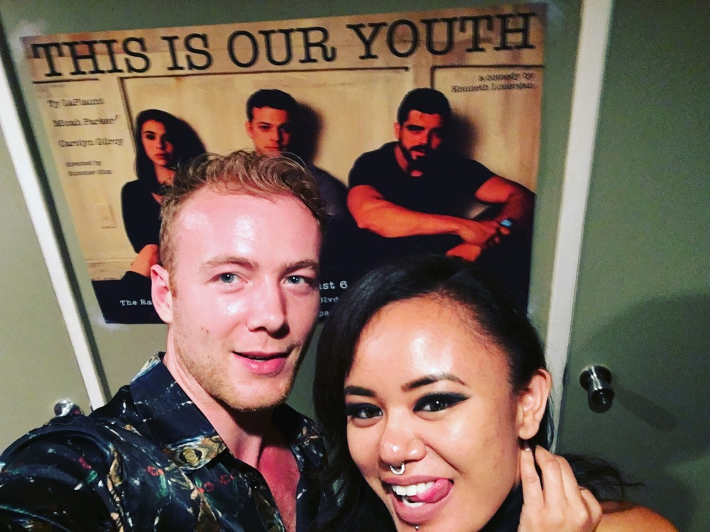 Frankie and I at This Is Our Youth at the Raven Playhouse in NoHo