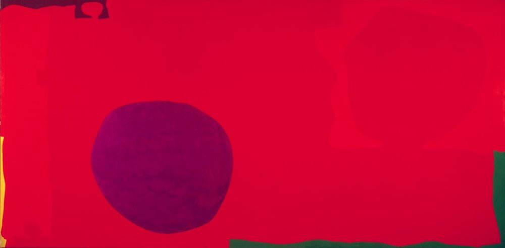 Long Cadmium with Ceruleum in Violet, Patrick Heron 1977