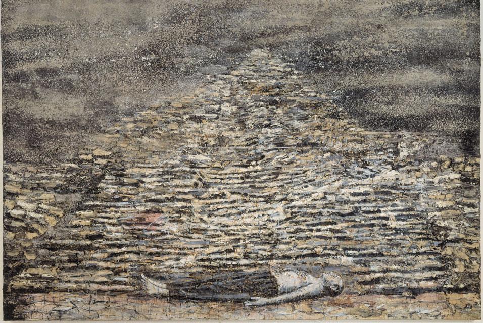 Anselm Kiefer. Hombre bajo una Pirámide, 1996. 281 x 502 x 5 cm..jpg