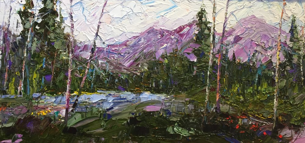 Black Foot River Valley, Oil, 12 x 24 $1,000