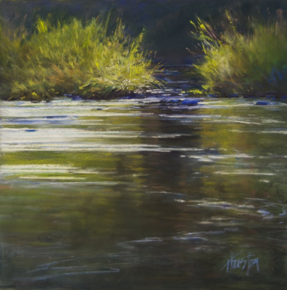 """Another Trickling Stream"" 18x18, Pastel $1350"