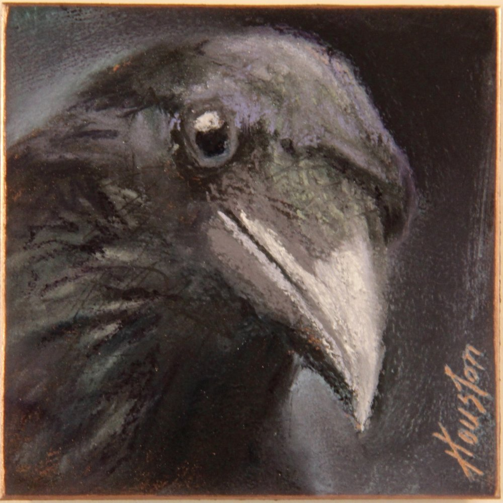 """Aristophanes"" 6x6, Pastel on copper $500"