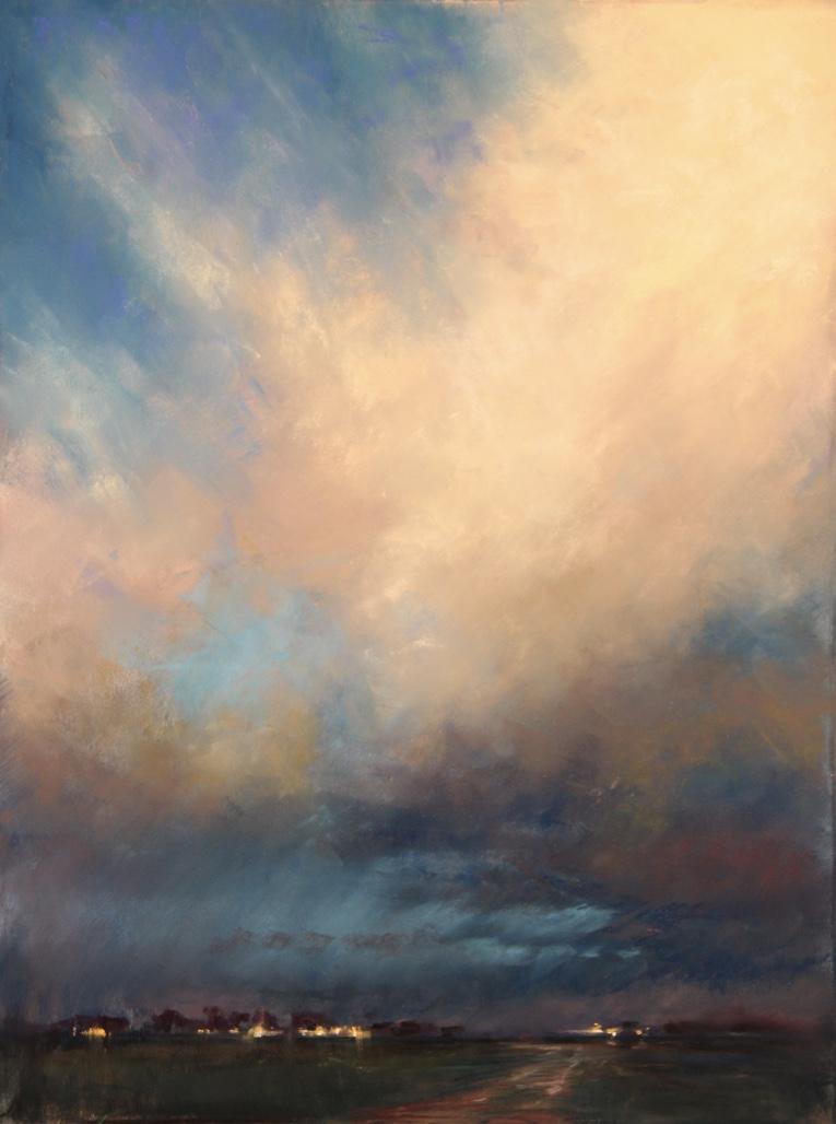 """Stormy Evening"" 12x16, Pastel $800"