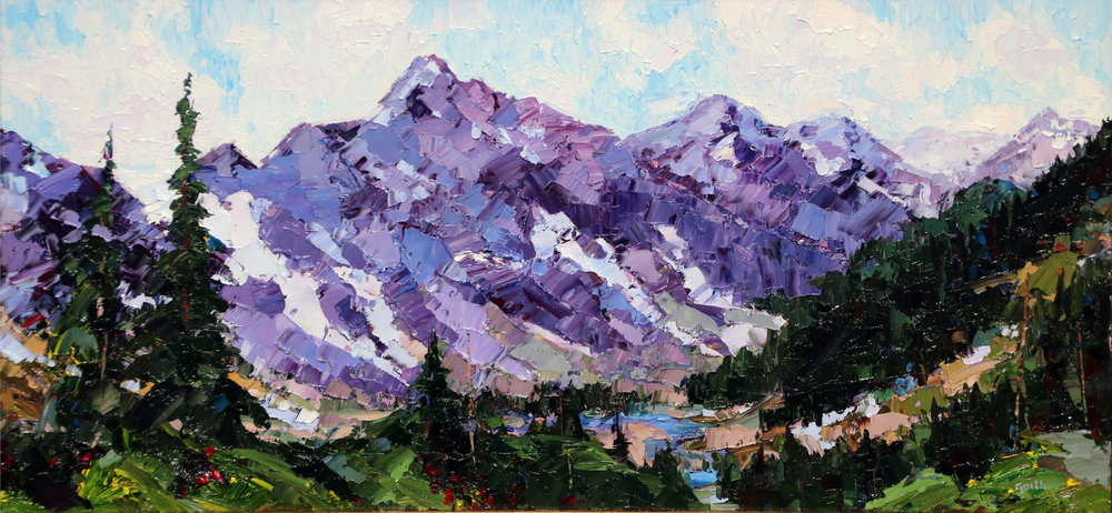 Cascade Pass, Oil, 15 x 30 $1, 300