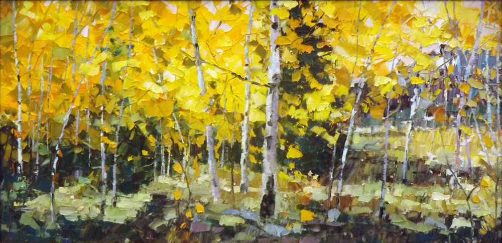 Fall's Delight, Oil, 15 x 30 $1,200