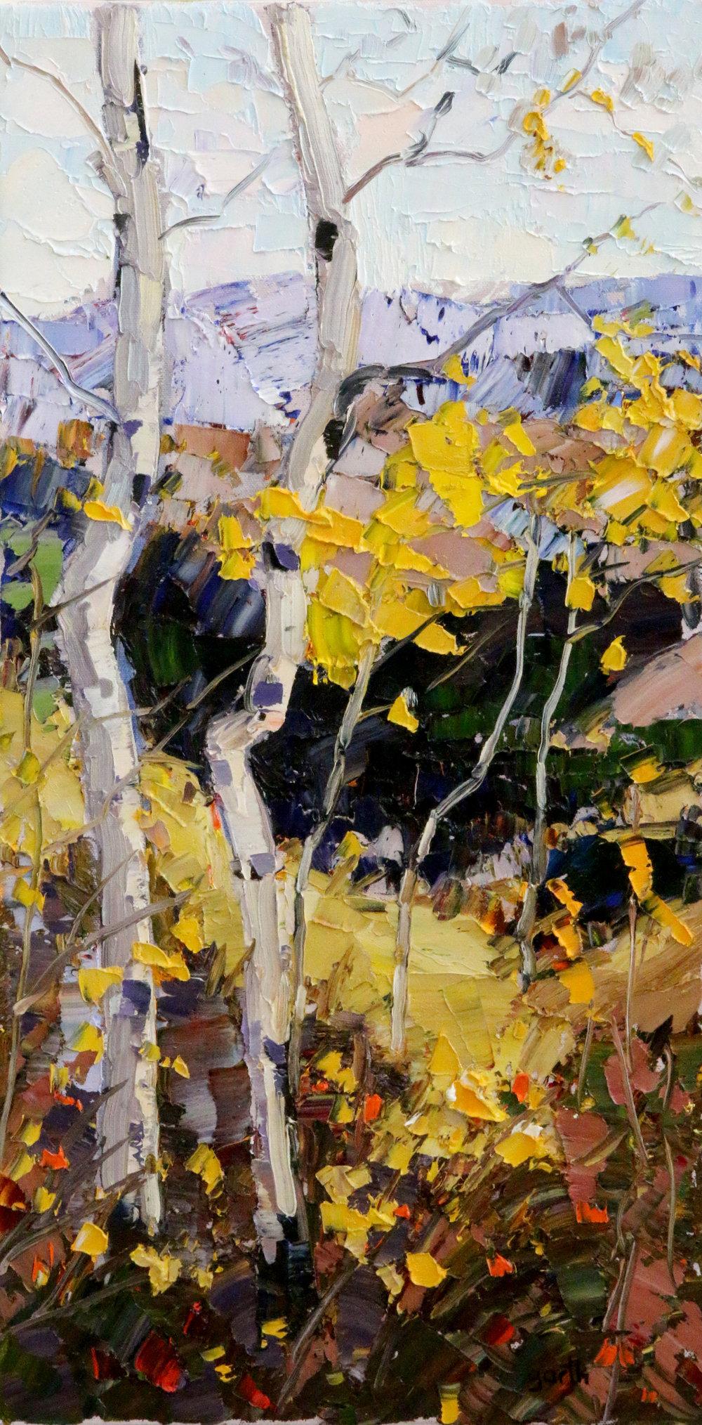 Aspen Slope, Oil, 12 x 24 $1,000