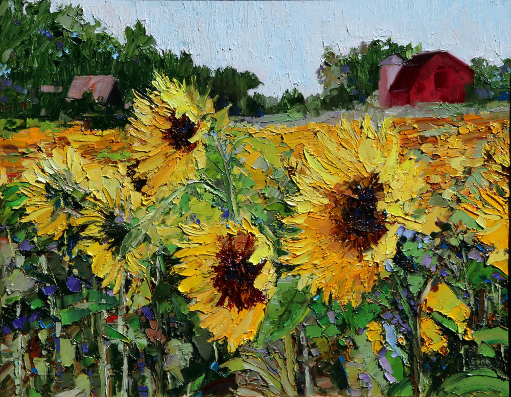 Sunflowers, Oil, 24 x 30 $1,500