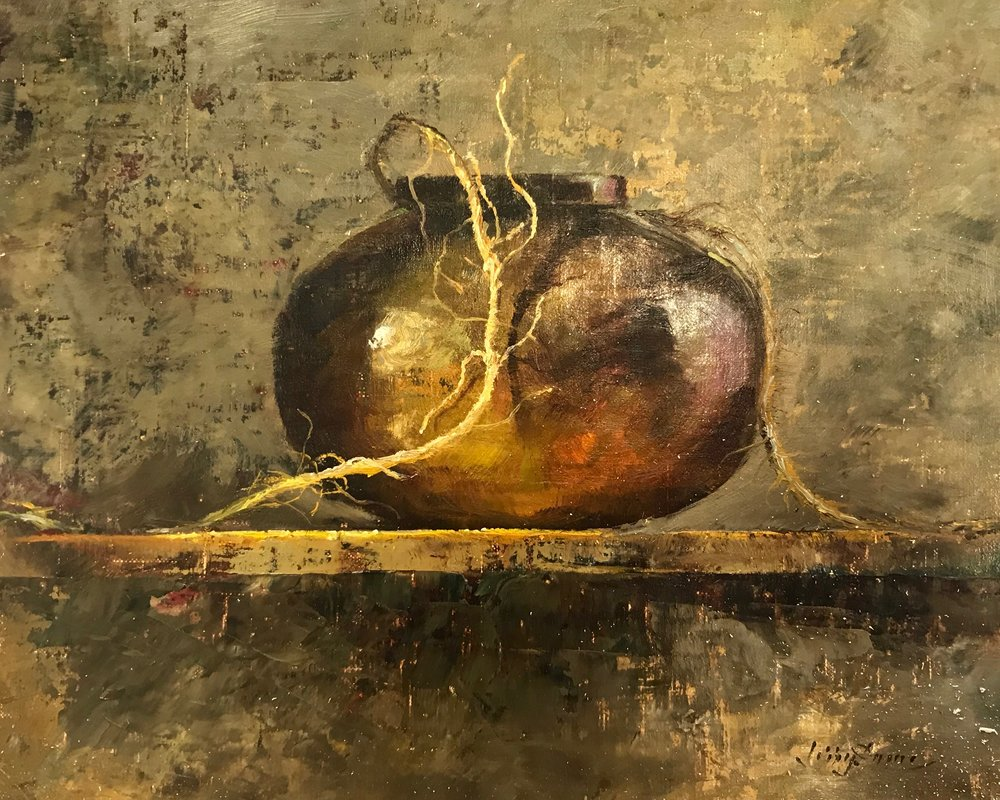 """""""Copper Bowl with Twine""""  525-"""