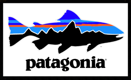 Partners for Patagonia fish sticker