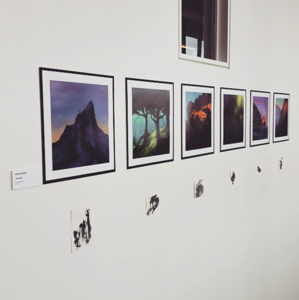 Final series presented at CCAD Illustration's senior thesis show.