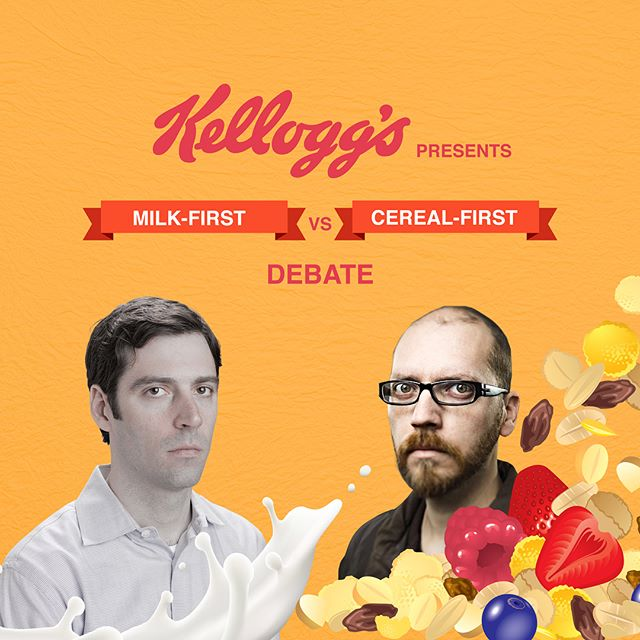 Milk-first? Cereal-first? Which one are you? We see you at the the breakfast #kelloggs #adaday