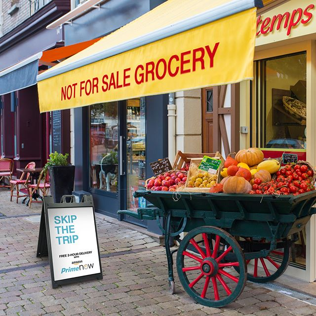 Amazon prime now, not for sale grocery store. Skip the trip. #adaday#amazonprimenow