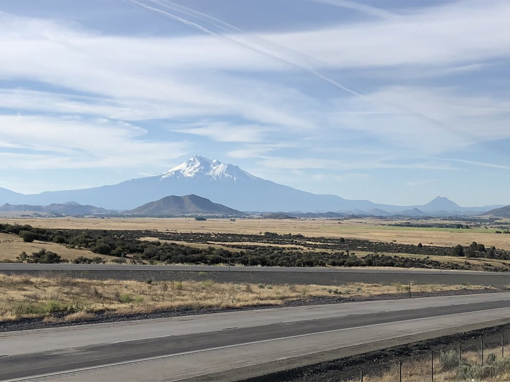 Mt. Shasta from a viewpoint off I-5 in Northern California.