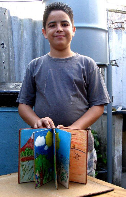 Ernesto and his altered book titled four season