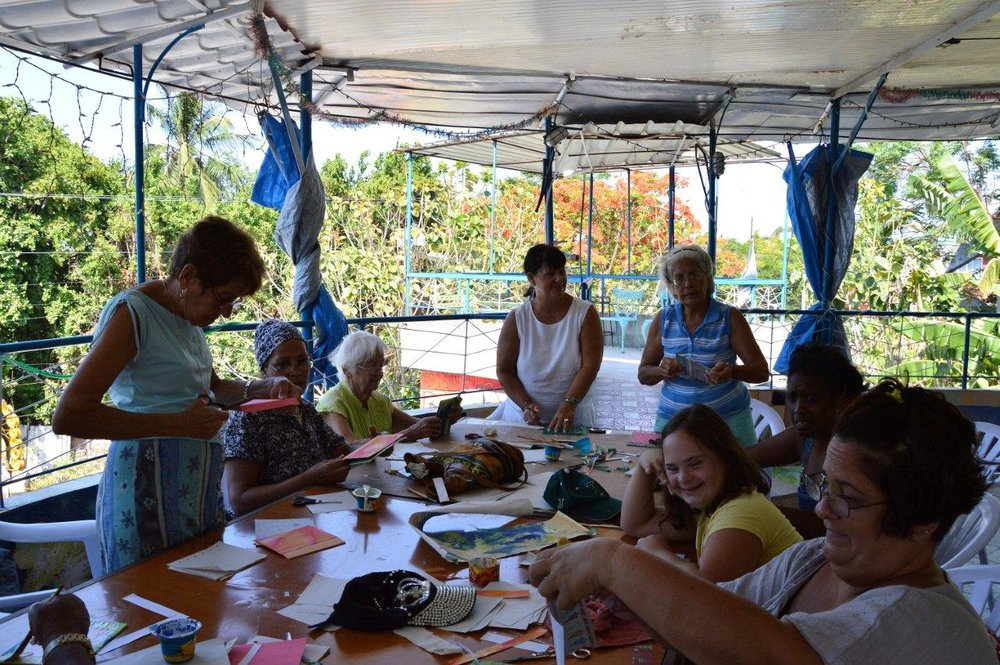 grand-mother's bookmaking workshop
